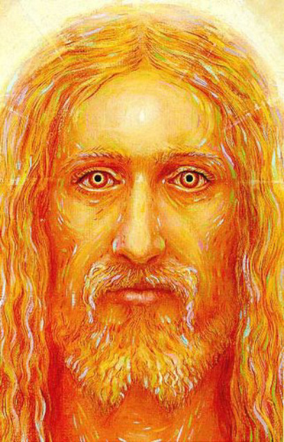 Jesus. In Orange.