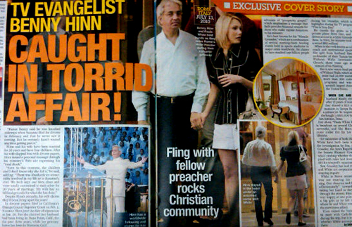 Benny Hinn and Paula White red handed, literally