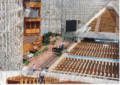 A look inside of the Crystal Cathedral