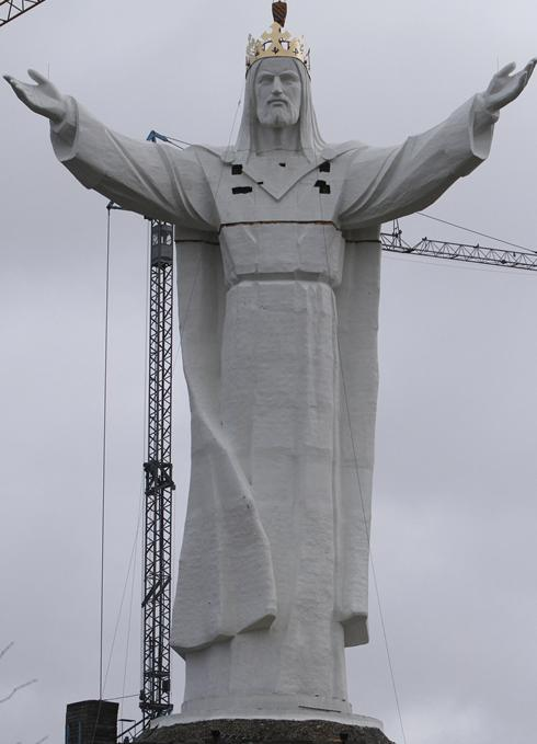 Giant Jesus in Poland